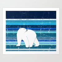 Polar bear horizontal Art Print