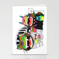 Totoro fan art (cat bus) by Luna Portnoi Stationery Cards