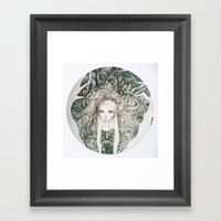 keyhole in the jungle Framed Art Print