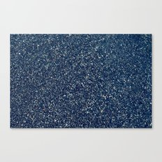 Black Sand II (Blue) Canvas Print