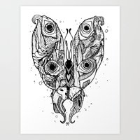 my sea butterfly Art Print