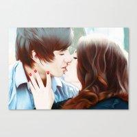 True Love's Kiss Canvas Print