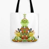 Tote Bag featuring Inkblot Goddess by Tina Carroll