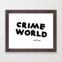 Crime World Logo Framed Art Print