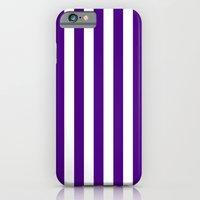 Vertical Stripes (Indigo/White) iPhone 6 Slim Case