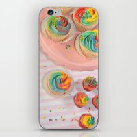 Rainbow Cupcakes iPhone & iPod Skin