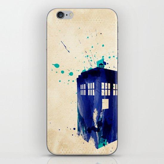 Doctor Who TARDIS Rustic iPhone & iPod Skin