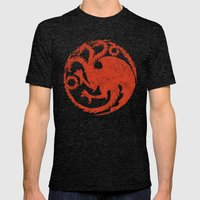 The Dance Of Dragons Mens Fitted Tee Tri-Black SMALL