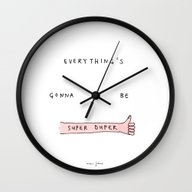 Wall Clock featuring Everything's Gonna Be Su… by Marc Johns