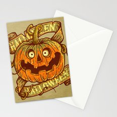 Halloween dark khaki Stationery Cards
