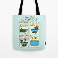 HOW TO MAKE GUACAMOLE Tote Bag