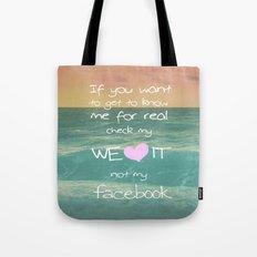 LOVE WE*HEART*IT Tote Bag