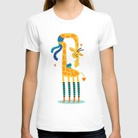 The bird and the giraffe Womens Fitted Tee White SMALL