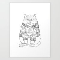I hate humans. Art Print