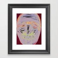 Face Illustration Framed Art Print
