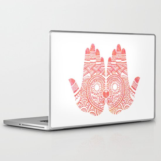 Red Mehndi Laptop & iPad Skin