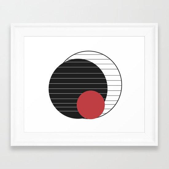 perception is reality Framed Art Print