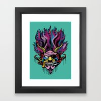 Pirate Demon Warlord Framed Art Print
