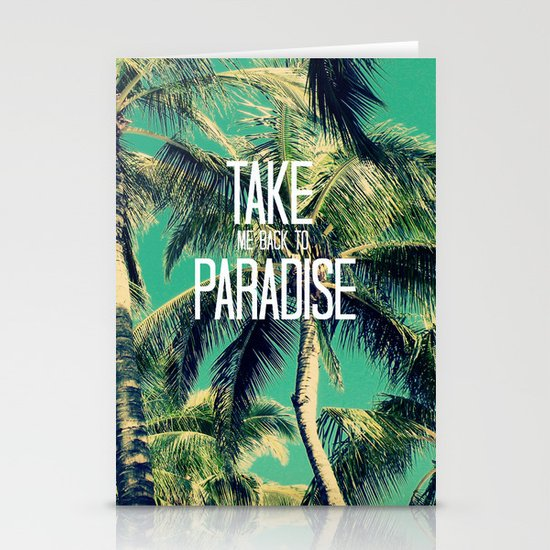 TAKE ME BACK TO PARADISE II  Stationery Card