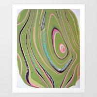 napkin gender/pink green Art Print