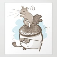 Goodbye Acorn Head Jim Art Print