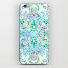 Painted Rainbow Doodles iPhone & iPod Skin