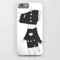 iPhone & iPod Case featuring Biker Gloves by Grace Welburn