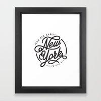 New York - White Framed Art Print
