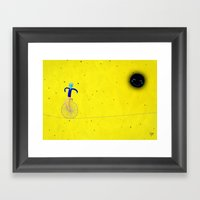 Richard And His Unicycle Framed Art Print