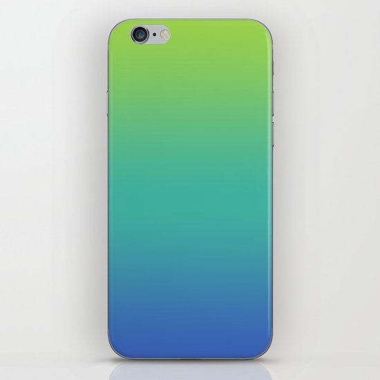 GREEN -> TEAL -> BLUE FADE iPhone & iPod Skin