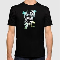 Trust your Gut Mens Fitted Tee Black SMALL