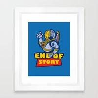 END OF STORY Framed Art Print