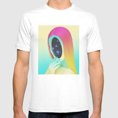 Galexia White Mens Fitted Tee SMALL