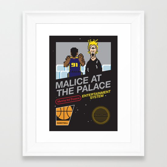 Malice At The Palace Framed Art Print