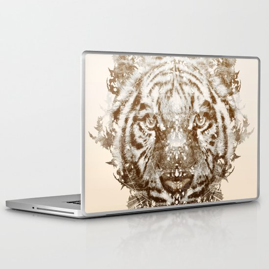 The White Tiger (Gold Version) Laptop & iPad Skin