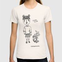 School Sucks Womens Fitted Tee Natural SMALL