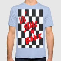 Lil' Shake and Bake Mens Fitted Tee Tri-Blue SMALL