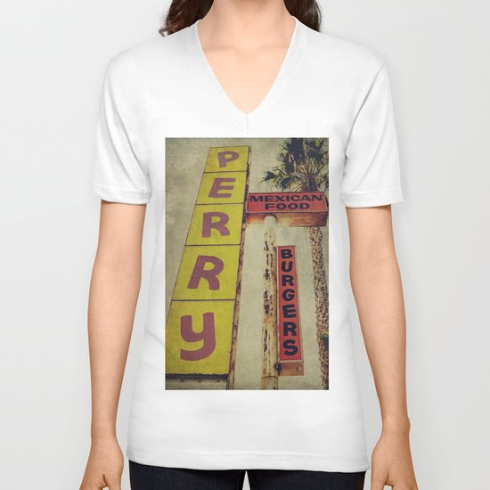 Perry's Vintage Sign V-neck T-shirt