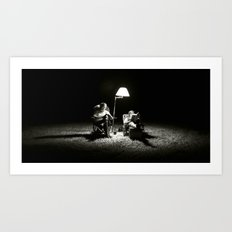 The Reading Light Art Print