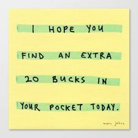 I Hope You Find An Extra… Canvas Print