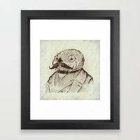 Proper Mr. Otter Framed Art Print