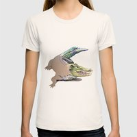 Crocodile Womens Fitted Tee Natural SMALL