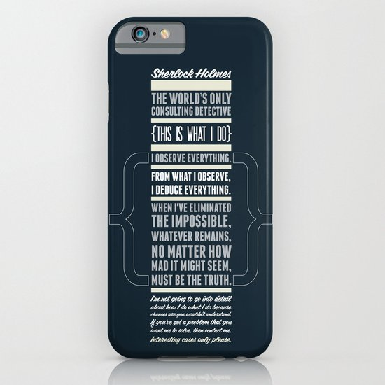 Sherlock - The Great Consulting Detective. iPhone & iPod Case