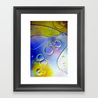 Abstract Bubbles Framed Art Print