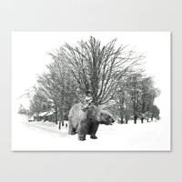Little Billy's Polar Playtime Canvas Print