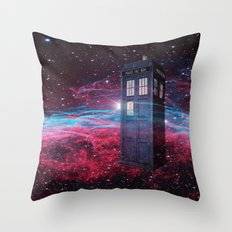 Dr Who police box  Throw Pillow