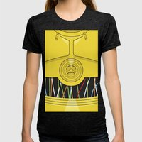 C3P0 Womens Fitted Tee Tri-Black SMALL