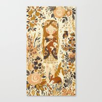 Canvas Print featuring The Queen of Pentacles by Teagan White
