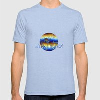 ABSTRACT - My Blue Heave… Mens Fitted Tee Tri-Blue SMALL
