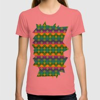 Diamonds Womens Fitted Tee Pomegranate SMALL